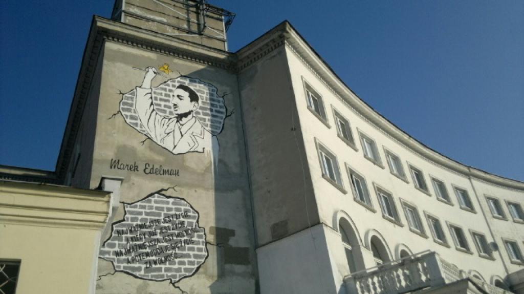 Powsta mural dla marka edelmana wola for Mural ursynow