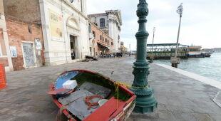 Wysoki poziom wody w Wenecji (PAP/EPA)