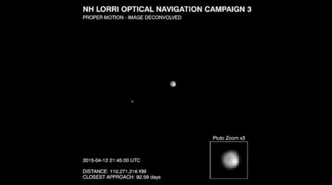 Pluton na razie jak kropelka. Jednak sonda New Horizons coraz bliżej