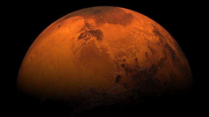 Kilkusetmetrowe fale tsunami na Marsie