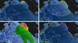 Te wstrząsy odkształciły ziemię i wywołały 60-metrowe tsunami