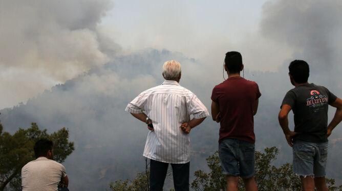 Pożar w górach na Cyprze. Prawdopodobnie zaprószył go 12-latek