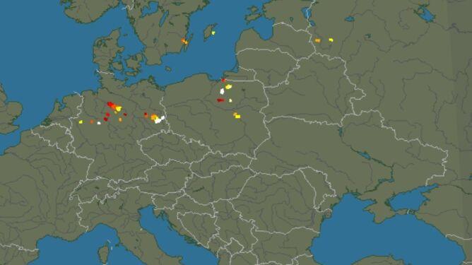 Mazowsze wśród regionów, gdzie są burze